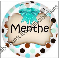 25mm RESINE,Cabochons  en résine 25mm  Ref 10428Chocolat,menthe,rayures,amour,love,gourmandise,j'aime..,cabochon en résine 25mm