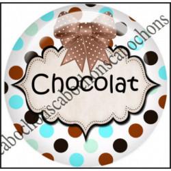25mm RESINE,Cabochons  en résine 25mm  Ref 10429Chocolat,menthe,rayures,amour,love,gourmandise,j'aime..,cabochon en résine 25mm