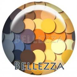 Cabochon verre 25mm, x 1, nounou, enfant, bebe, multicolore
