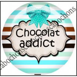25mm RESINE,Cabochons  en résine 25mm  Ref 10432Chocolat,menthe,rayures,amour,love,gourmandise,j'aime..,cabochon en résine 25mm