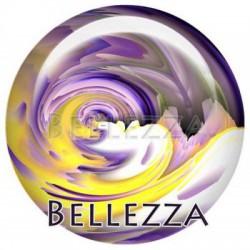 Cabochon verre 18mm, x 2, geometrique fashion, violet et jaune