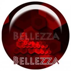 Cabochon resine 25mm, x 1, geometrique fashion, bordeaux et rouge