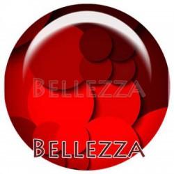Cabochon verre 18mm, x 2, geometrique fashion, bordeaux et rouge