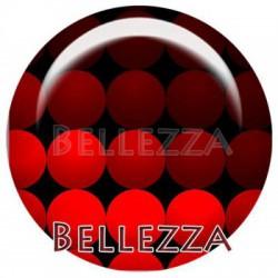 Cabochon verre 20mm, x 2, geometrique fashion, bordeaux et rouge