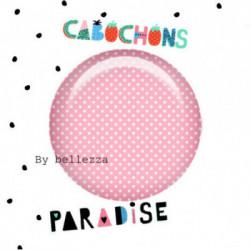 25mm VERRE, 1 Cabochons  en verre 25mm  Ref 10367Gourmande,cupcake,pois,gâteaux,blanc,rose,rétro,fashion,vintage,retro,1€,cabochon verre 25mm,collection cabochons paradise