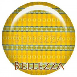Cabochon verre 30mm, x 1, geometrique fashion, turquoise, orange, jaune