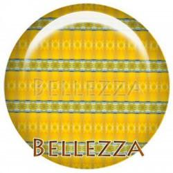 Cabochon verre 30x40mm, x 1, geometrique fashion, turquoise, orange, jaune