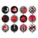 Cabochon par collection, chat rockabilly