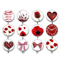 Cabochon par collection, coeur, love, amour, 28518