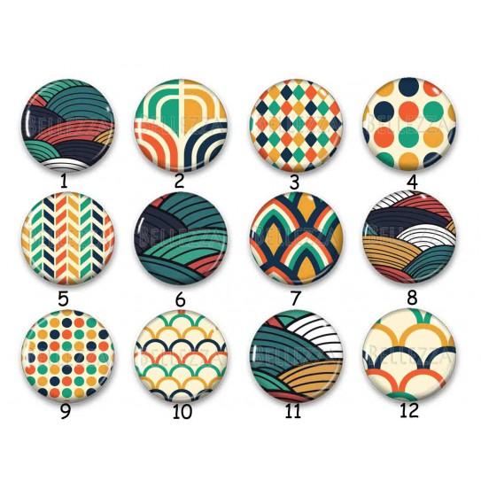 Cabochon par collection, motif abstrait, 28582