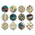 Cabochon par collection, motif géométrique, 28583
