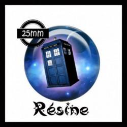 25mm RESINE,Cabochons  en résine 25mm Ref Ref 7536Machine à rattraper le temps, Espace,galaxie,ciel,étoiles, lune, offrir,