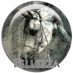 Cabochon verre, cabochon resine, chevaux, couleur gris