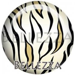 Cabochon verre, cabochon resine, motifs Safari, couleur noir dore et argente