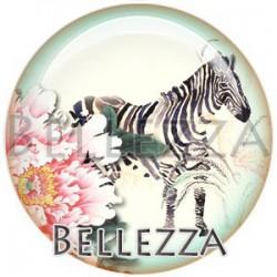 Cabochon verre, cabochon resine, zebre, couleur noir et blanc