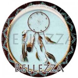Cabochon verre, cabochon resine, boho, attrape reve, plume, native america, tribal