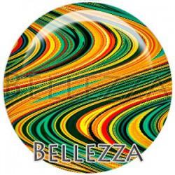 Cabochon verre, cabochon resine, boho vague fashion, multicolore