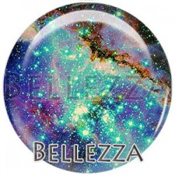 Cabochon verre, cabochon resine, espace, planete, nebuleuse, celeste