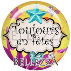 Cabochon verre, cabochon resine, fiesta, festif, fêtes, événementiel