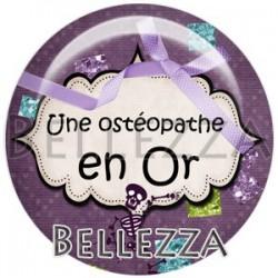 Cabochon verre, cabochon resine, ostéopathe, médical, santé