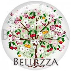 Cabochon verre, cabochon resine, arbre, arbre de vie, nature