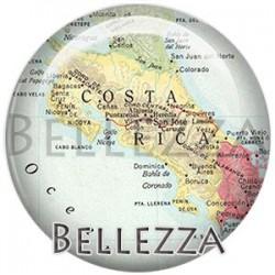 Cabochon verre, cabochon resine, carte du monde, map, pays