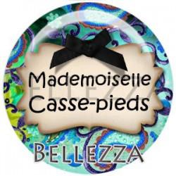 Cabochon verre, cabochon resine, mademoiselle, demoiselle, texte fantasque