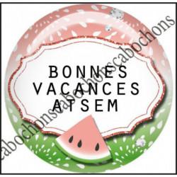 1 CABOCHON  résine Cabochons Rond 25mm  Ref 11967 Atsem,Vacances,pastèque,été,mer,marin,nautique,cadeau, porte clés