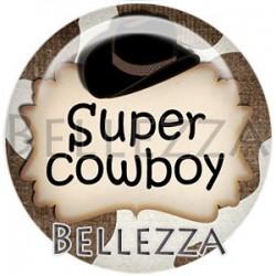 Cabochon verre, cabochon resine, cowboy, western, texte far-west