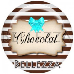 Cabochon verre, cabochon resine, chocolat, texte gourmand