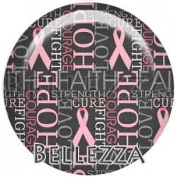 Cabochon verre, cabochon resine, sensibilisation, ruban rose, cancer