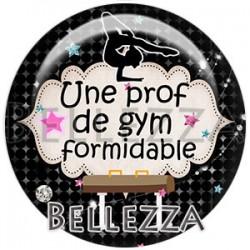 Cabochon verre, cabochon resine, gymnastique, prof, sport gym