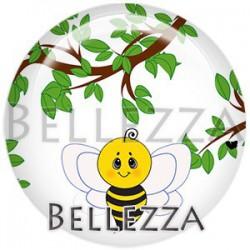 Cabochon verre, cabochon resine, abeille, miel, apiculture, animaux