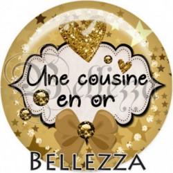 Cabochon verre, cabochon resine, en or, étoiles, strass, chic, cousine, famille
