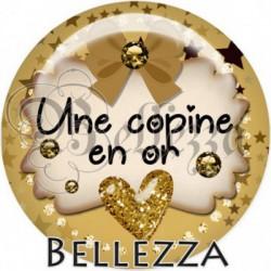 Cabochon verre, cabochon resine, en or, étoiles, strass, chic, copine, amitié