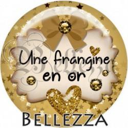 Cabochon verre, cabochon resine, en or, étoiles, strass, chic, frangine, sœur, famille
