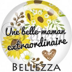 Cabochon verre, cabochon resine, extraordinaire, tournesol, belle-maman, famille