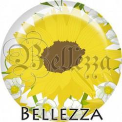 Cabochon verre, cabochon resine, fleur de tournesol, nature
