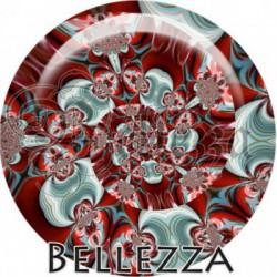 Cabochon verre, cabochon resine, boho spirale, tourbillon fashion