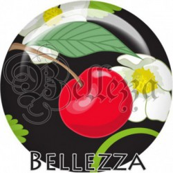 Cabochon verre, cabochon resine, cerise, fruit, nature, été