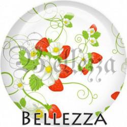 Cabochon verre, cabochon resine, fraise, fruit, nature, été