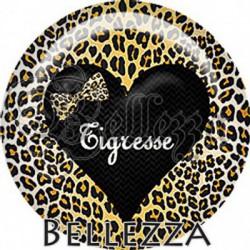 Cabochon verre, cabochon resine, léopard, animaux, safari