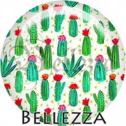 Cabochon verre, cabochon resine, cactus, plante, nature