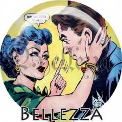Cabochon verre, cabochon resine, comics, amoureux retro, vintage, bisous