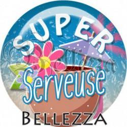 Cabochon verre, cabochon resine, super serveuse, vacances, été, plage, mer