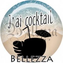 Cabochon verre, cabochon resine, j'ai cocktail, vacances, été, plage, mer