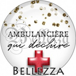 Cabochon verre, cabochon resine, ambulance, ambulancière médical, métier