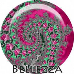 Cabochon verre, cabochon resine, spirale, tourbillons, swirl, fashion, boho