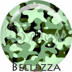 Cabochon verre, cabochon resine, camouflage, militaire, illustration