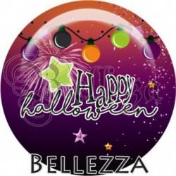 Cabochon verre, cabochon resine, halloween, orange et violet
